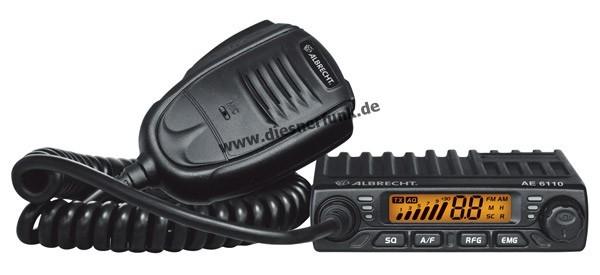 Albrecht AE 6110 Powerzwerg CB-Funkgerät im Slim-Line Format B-Ware