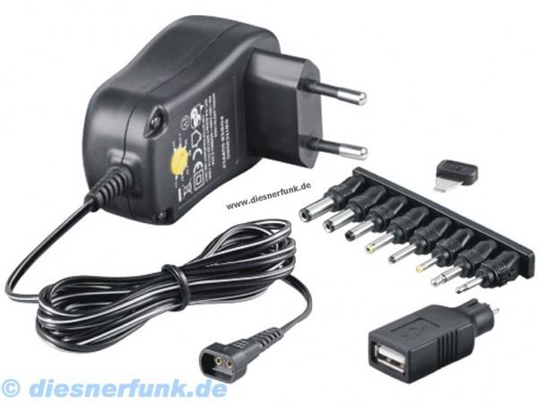 "Stecker-Netzgerät McPower ""SNG-1000USB"" 3-12V, max. 1000mA, 12"