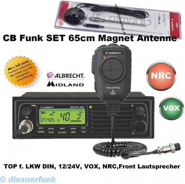 Albrecht AE 6491 NRC inkl VOX Mikrofon CB Funkgerät & 65cm Magnetantenne