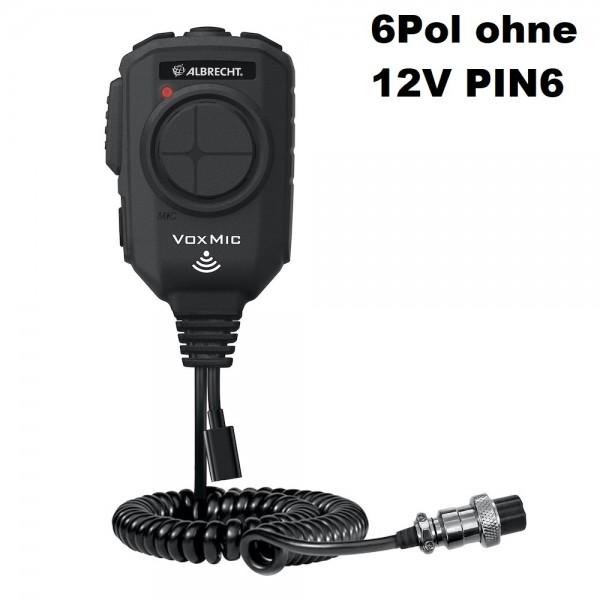 Albrecht VOX Mikrofon 6-polig ANC mit Batterie keine 12V PIN6 am CB