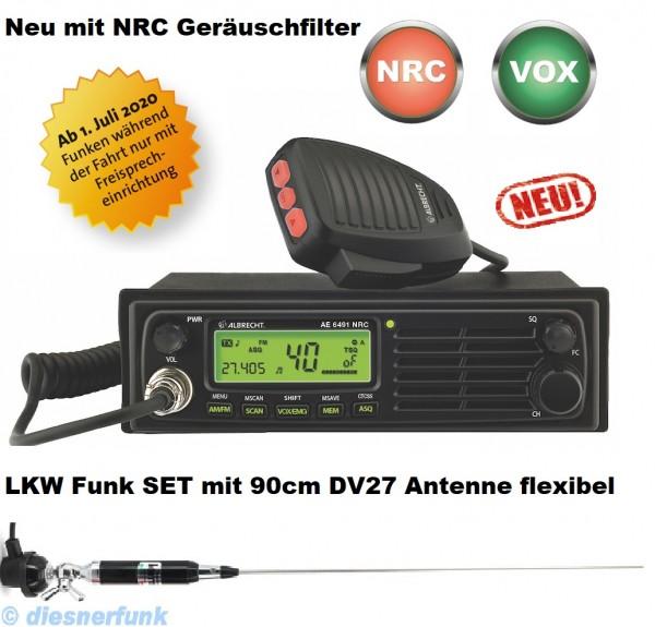 Albrecht AE 6491 NRC VOX CB Funkgerät & 90cm DV27 Antenne LEMM900