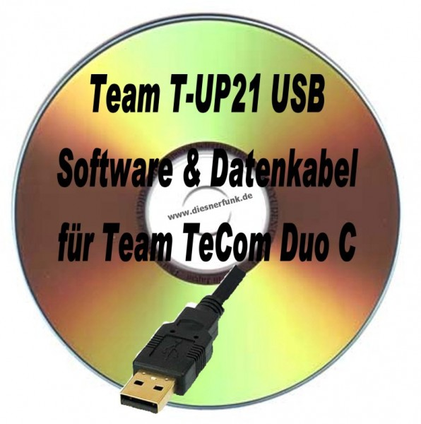 TEAM T-UP21 USB Programmierkabel & Software für Team TeCom Duo C