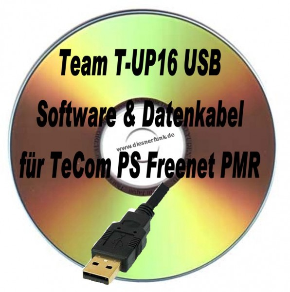TEAM T-UP16 USB Programmierkabel & Softw TeCom-PS Freenet PMR
