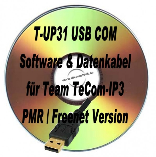 TEAM T-UP31 Programmierkabel & Software für TeComIP3 PMR/Freenet