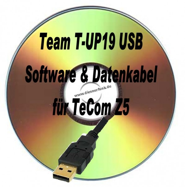TEAM T-UP19 USB Programmierkabel & Software für Team TeCom Z5