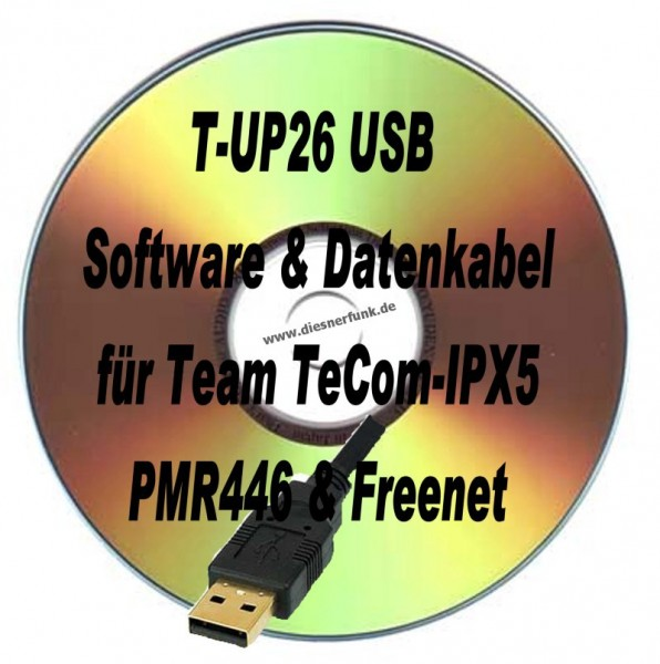 TEAM T-UP26 Programmierkabel & Software TeCom IPX5 PMR/Freenet